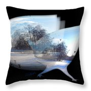Winter Ice Throw Pillow
