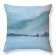 Winter In Alps Throw Pillow