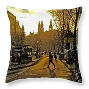 Winter In Amsterdam-1 Throw Pillow