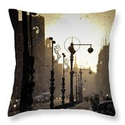 Winter In Amsterdam-2 Throw Pillow