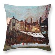 Winter In Buffalo Throw Pillow
