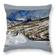 Winter In East Vail Throw Pillow