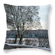 Winter In England, Uk Throw Pillow