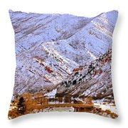 Winter In Grand Junction Throw Pillow
