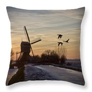 Winter In Holland-1 Throw Pillow
