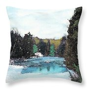 Winter In Kalkaska Throw Pillow