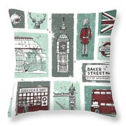 Winter In London Throw Pillow