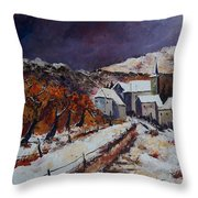 Winter In Luxembourg Throw Pillow
