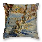 Winter In Mat Throw Pillow