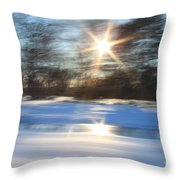 Winter In Motion Throw Pillow