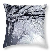 Winter In Our Street Throw Pillow