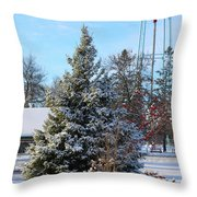 Winter In Pequot Lakes Throw Pillow