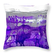 Winter In Purple And Silver Throw Pillow