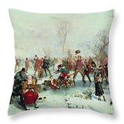 Winter In Saint James's Park Throw Pillow