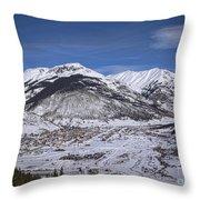 Winter In Silverton Colorado Throw Pillow