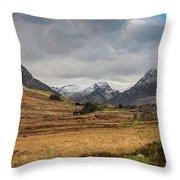 Winter In Snowdonia Throw Pillow