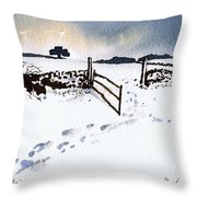 Winter In Stainland Throw Pillow