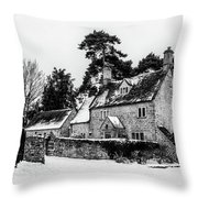 Winter In The Cotswolds Throw Pillow