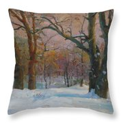 Winter In The Wood Throw Pillow