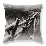 Winter In Wyoming 4 Throw Pillow