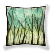 Winter Into Spring Throw Pillow