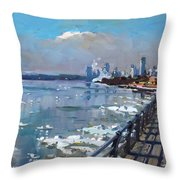 Winter Is Surrendering Its Weapons Throw Pillow