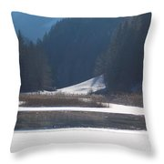 Winter Lake 1 Throw Pillow