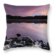 Winter Lake Frost Throw Pillow