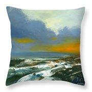 Winter Lake View Throw Pillow