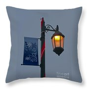 Winter Lamppost Throw Pillow