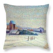 Winter Landscape 1885 Throw Pillow