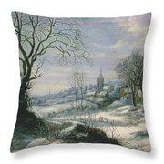 Winter Landscape Throw Pillow by Daniel van Heil