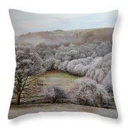 Winter Landscape Throw Pillow by Harry Robertson