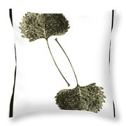 Winter Leaf Throw Pillow