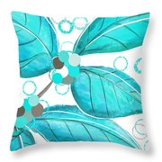 Winter Leaves Throw Pillow