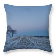 Winter Lines Throw Pillow
