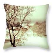 Winter Loneliness Throw Pillow by Jenny Rainbow
