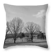 Winter Looking At The Dell Throw Pillow