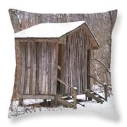 Winter Lookout In Oil Throw Pillow