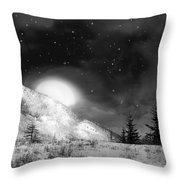 Winter Magic In Black And White Throw Pillow