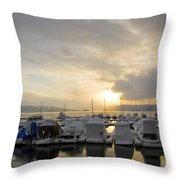 Winter Marina Throw Pillow