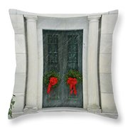 Winter Mausoleum Throw Pillow