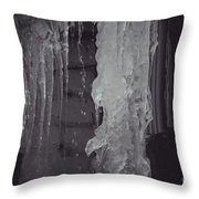 Winter Memories-ice Throw Pillow