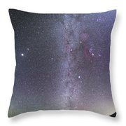 Winter Milky Way From New Mexico Throw Pillow