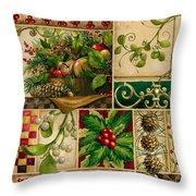 Winter Montage Throw Pillow