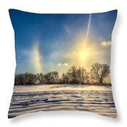 Winter Morn In Minnesota Throw Pillow