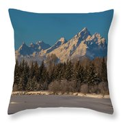 Winter Morning At The Grand Throw Pillow