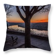 Winter Morning Breath Throw Pillow