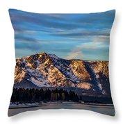 Winter Morning South Lake Tahoe Throw Pillow