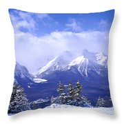 Winter Mountains Throw Pillow by Elena Elisseeva